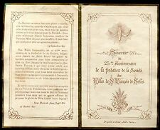 image pieuse santini holy card . 25é anniversaire des Filles de St-François