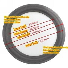 "1x 250mm 10"" inch Universal Speaker Woofer Peaker Foam Edge Surround Repair Part"