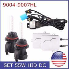 HID 55W Xenon Bulb Headlight Conversion KIT 9004/9007HL Hi/Lo Beam 6000K Ballast