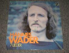 Hannes Wader~7 Lieder~1972 Folk~German IMPORT~Philips 6305 165~FAST SHIPPING!