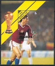 Block D97 Gambia 1990 Block Mnh Sport Football World Cup Netherlands