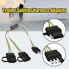 Trailer Splitter Harness Adapter 2-Way 4Pin Y-Split For Tailgate Light Bars Led