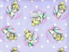 FAT QUARTER DISNEY FABRIC  TINKERBELL TINK TOSS 100% COTTON PIXIE FAIRY QUILTING
