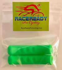 2 Pack of RACE READY Green Silicone Brake Lever Covers - Sticky Soft Grip