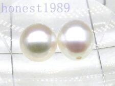 Natural Loose AAA+++ 7*8mm White Akoya Teardrop Pearl Half Drilled Pair