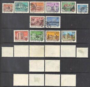 Hungary 1972-5 Buildings.2 sets.Sc.2196-2200,2330-5.