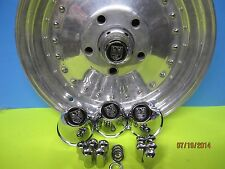 4 CENTER CAPS CENTER LINE WHEELS, 5 LUG C-70 ,20 LUG NUTS  1/2-20  GM FORD CARS
