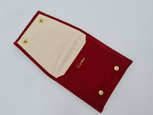 100% Genuine Cartier Padded Travel Pouch Service Case