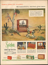 1953-Vintage ad for Sparton Cosmic Eye Television`Western Scene Model (080915)