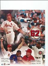 McGWIRE & SOSA CARDINALS CUBS 8X10 PICTURE PHOTO 62 HR'S