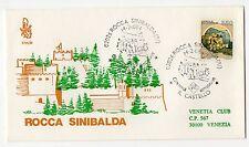 1984 REPUBBLICA BUSTA FDC ROCCA SINIBALDA 550 LIRE V/1058