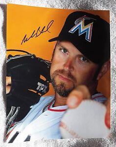 Miami Marlins Heath Bell Signed 8x10  Baseball Photo Auto