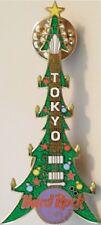 Hard Rock Cafe Tokyo 2001 Christmas Pin Tree Guitar Lights Ornaments Hrc #24385