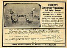 Carl Heinr. Zeuner Friedland Breslau Schlesisches  Leinenwaren- Versandhaus 1911
