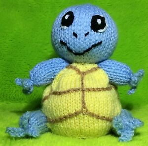 KNITTING PATTERN - Squirtle inspired choc orange cover or 13 cms Pokemon toy