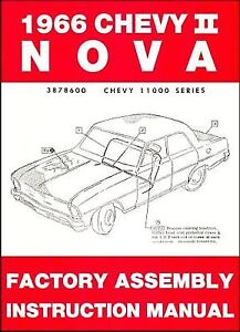 1966 CHEVROLET FACTORY ASSEMBLY MANUAL   CHEVY II NOVA