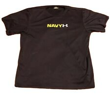 Under Armour Heat Gear Men's Shirt Large Navy Armed Forces Training Exercise