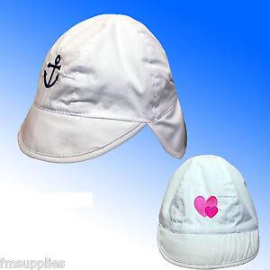 Baby Sun Protection Hat Cap neck flap 3 Sizes * Fast Despatch