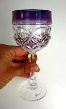 altes Hofbauer Römerglas Glas Überfang lila Römer Glas Bleikristall Pokal