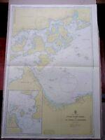 "1973 JAPAN NAIKAI ~ OSAKI KAMI SHIMA - NIIHAMA Sea MAP CHART 28"" x 41"" C37"