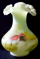 Fenton Covered Bridge Vase for Candlel-Land Parties Limited to 1700