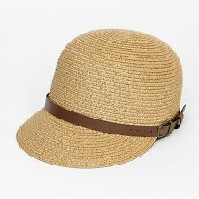 Straw Style Riding Cap Light Brown 15f55d18be4f