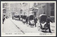 Somerset Postcard - Old Bath - Victorian Bath Chairs c1907 - DP310
