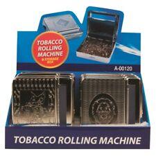 Automatic Rolling Machine TinBox Metal CigaretteTobacco RollUp assorted designs.