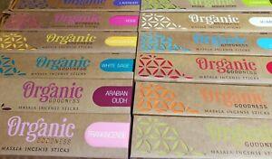Organic Goodness Incense Sticks, Home Fragrance, Zen, Yoga, Meditation