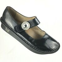 Alegria PG Lite Black Patent Leather Mary Jane Comfort Shoes Womens 38 US 8 8.5