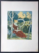 Eugène Grasset Dans le Bois Farblithographie 1899