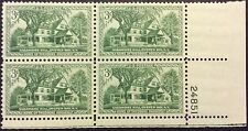 1953 3c Sagamore Hill commemorative P.B. of 4, Scott #1023, MNH, Fine