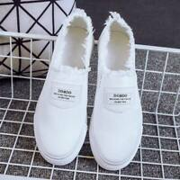 Women Classic Canvas Slip-on Flats Casual Shoes Soft Lazy Shoes Loafers Sneakers