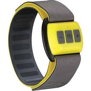 Scosche RTHMA15 Bluetooth Armband Pulse Monitor, Yellow/Gray