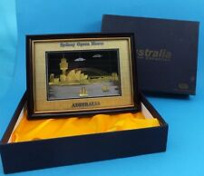 Sydney Opera House Gold Coloured Framed 3D Picture Australian Souvenir