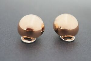 Womens 9ct Rose Gold Earrings with 9ct White Gold Clips Non-Pierced Earrings