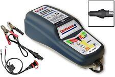 Optimate 4 Doble Motocicleta 12v Cargador de batería Optimizador de calidad de último diseño