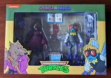 NECA Teenage Mutant Ninja Turtles Splinter & Baxter Figures MIB TMNT