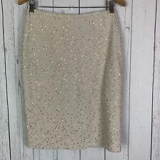 St John Santana Knit Gold Sequin Skirt