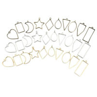 30 PCS Lünette Hohlform Charms Handgefertigte Kleidung Pullover Kette Halskette