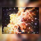 ACEO ATC Original Watercolor, Mini Galaxy Nebula # 2, HDellPaints