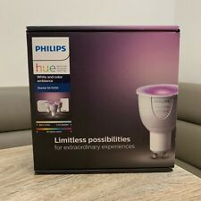 PHILIPS HUE WHITE AND COLOUR AMBIANCE STARTER KIT GU10 SMART BULB'S X 3 - UK NEW