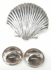 Sea Shell Handcrafted in Solid Pewter In UK Lapel Pin Badge