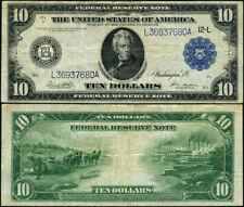 FR. 951 B $10 1914 Federal Reserve Note San Francisco Type B VF