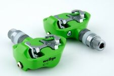 [US Seller] New Wellgo RC-713 Road Bike Clipless Pedals with Cleats 98A - Green