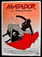 Werbeplakat Matador Pedro Almodovar Banderas Serna Martinez Serrano Cartaz M313