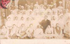 RPPC LONDON W1 MONICO RESTAURANT KITCHEN BRIGADE Photo circa 1907