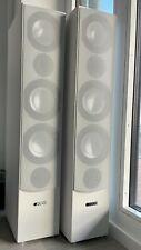 Zwei Canton Standlautsprecher GLE 490, weiß, gebraucht, sehr guter Zustand, OVP