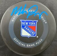 Mike Richter autographed signed authentic puck NHL New York Rangers PSA COA