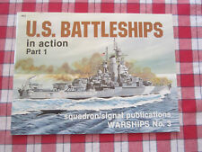 U.S. BATTLESHIPS IN ACTION PART 1 1980 by Robert C Stern WARSHIPS No. 3